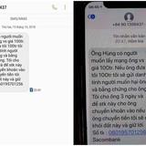 Phóchánh VP ĐBQH tỉnh Quảng Nam bị nhắn tin đe dọa và tống tiền