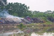 Thường Tín (HN): Khói trắng xóa dọc bờ sông Nhuệ Giang