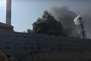 Lửa bùng cháy dữ dội tại nhà máy nhiệt điện Thái Bình 2