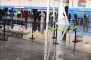Vỡ đường ống, sân bay ở Mỹ ngập nước