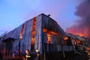 TP.Hồ Chí Minh: Đang cháy lớn công ty giấy trong KCN Vĩnh Lộc
