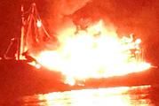 Kiên Giang: Cháy tàu cá chở dầu gây thiệt hại khoảng 13 tỉ đồng