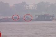 Xuất hiện nhiều tàu khai thác cát trái phép ở huyện Mê Linh, Hà Nội