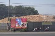 TP.HCM: Bãi vật liệu xây dựng gây ô nhiễm, mất an toàn giao thông