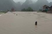 Mưa to gây lũ lụt tại Cao Bằng