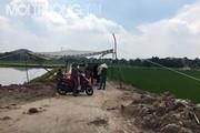 Nắng nóng 40 độ C người dân Nam Sơn vẫn chặn xe rác