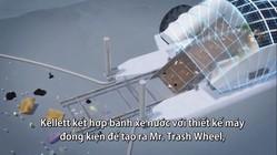 Cỗ máy 50 tấn gom rác ở cửa sông