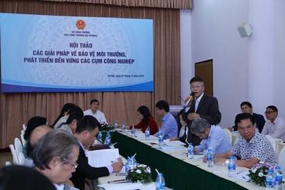 Hội thảo về giải pháp BVMT, bền vững các cụm công nghiệp