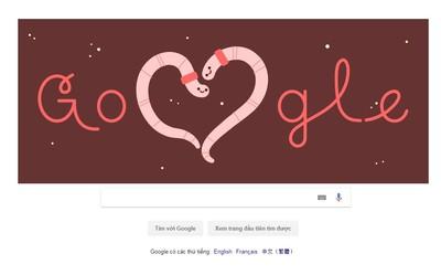 Google tôn vinh ngày Valentine 14/2 bằng giun đất, cánh cam và nhện
