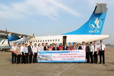 VASCO chính thức khai thác đường bay Vinh - Đà Nẵng