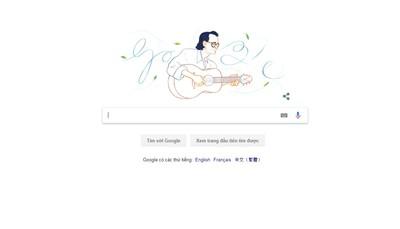 Nhạc sỹ Trịnh Công Sơn được tôn vinh trên Google Doodles