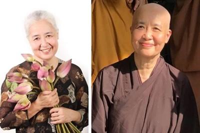 Nghệ nhân Nguyễn Dzoãn Cẩm Vân quy y cửa Phật ở tuổi 65