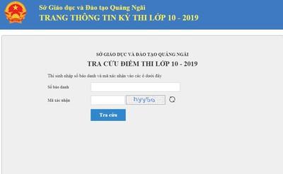 Đã có điểm thi vào lớp 10 Quảng Ngãi năm 2019