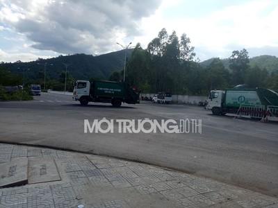 Đà Nẵng: Đã thông đường để xe chở rác vào bãi rác Khánh Sơn