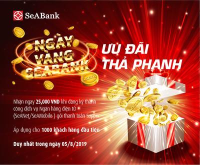 Hàng nghìn quà tặng trong ngày vàng khuyến mại Seabank
