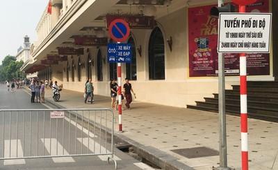 Bản tin Đô thị số 27/2019: Cấm xe một tháng ở phố đi bộ Hoàn Kiếm