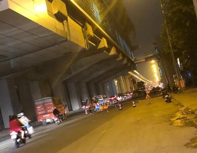 Hà Nội: Phân luồng phục vụ thi công đường Quang Trung