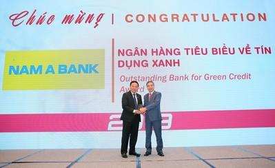 """Nam A Bank nhận giải """"Ngân hàng tiêu biểu về tín dụng xanh' năm 2019"""