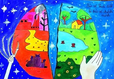 Trường tiểu học Ngãi Lợi: Chúng em vẽ tranh vì môi trường!